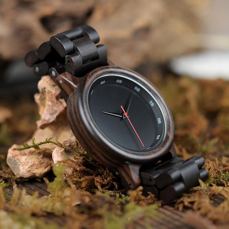 BOBO BIRD Male High Quality wrist Watch Bamboo Wooden Watches Men in gift box custom logo erkek kol saati 6