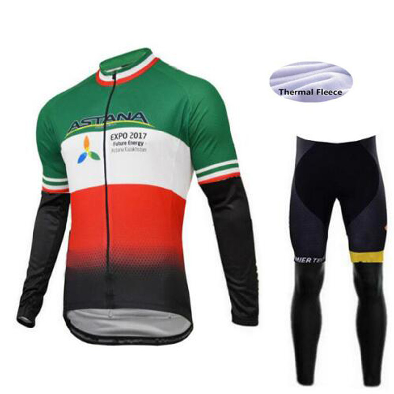 2018 Winter Thermal Fleece Cycling Clothing Set Maillot Ropa Ciclismo Invierno MTB Bicycle Jersey Set Bike Clothing Sportswear <br>