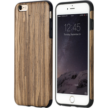 Original Rock brand case for iPhone 7 case Element Series Wood Grain+TPU Protective Back Cover Case for iPhone 6 6s Plus Case