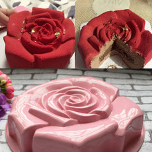 Different Color High Quality Rose Shape Silicone Cake Mould Chocolate Pudding Mold Kitchen DIY Cake Baking Pan Cake Tools CL144