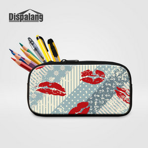 Dispalang Cute School Pencil Case For Girl Plaid Pattern Pencil Bag Office Stationery Women Cosmetic Bag Ladies Makeup Organizer