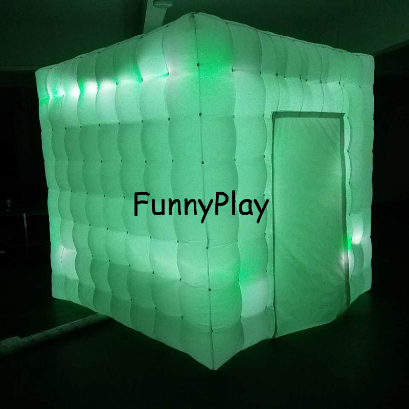 LED lighted inflatable photo booth1