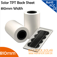 50 meters Wholesale 810mm Width 0.3mm Thickness Solar Back Sheet , TPT Solar Panel Module Encapsulation Material, TUV, CE, UL(China)