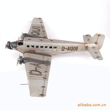 Retro color model plane vintage car decoration military transport aircraft 695 Wrought iron crafts, business gifts,holiday gifts