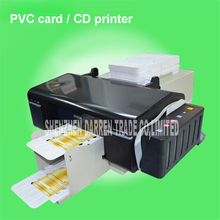 110V 60HZ / 220V 50HZ Automatic PVC ID card printer plus 50pcs pvc tray for pvc card printing machine PVC White Card/CD Print