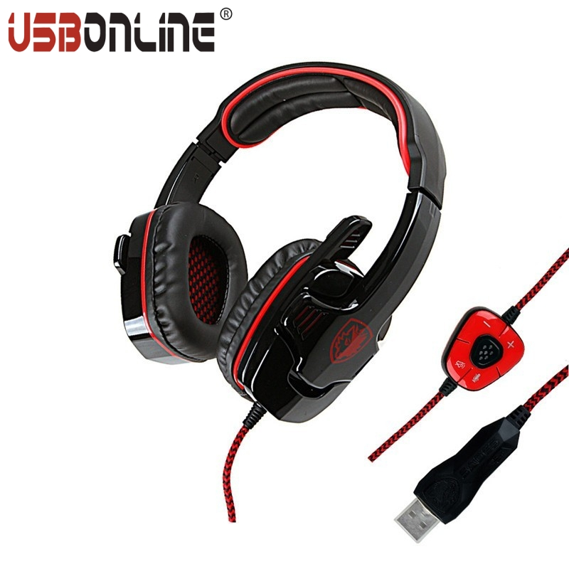 Sades Game Headphone 7.1 Sound USB Gaming Computer Headset Earphone With Micphone Remote Control For Computer Gamer<br><br>Aliexpress