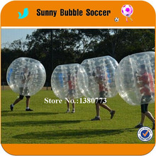 4PCS+1pump 1.2M TPU sports soccer bubble ball inflatable body football, inflatable rugby ball outfit,knocker ball From