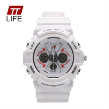 TTLIFE Digital analog watch men women LED electronic Day 30m dive army G type sport watch relogio masculino feminino lady white
