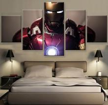 Armored Avenger Poster Canvas Painting Wall Art Prints Home Decor Movie Star Picture 5 Panels For Linving Frame