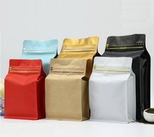 12.19 Qi 20pcs/lot Stand up Coffee Bag Ziplock Packaging for Nuts/Spices/Tobacco Self-Seal Zip lock Bag for Coffee Pack 227g