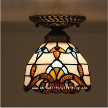 Tiffany ceiling lamp ,European style Baroque,Med ,Bohemia surface mounted tiffany light ,16cm baroque ceiling lamp TFC-006-16CM