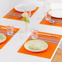 Hot Sale PVC Stripe Printed Placemats Multifunction Kitchen Accessories Tableware Cap Bar Insulation Pads Plus Size
