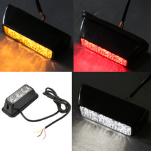 12V 3W Windshield Led Strobe Light  Viper Car Flash Signal Emergency Fireman Police Beacon Warning Light Red Blue Amber