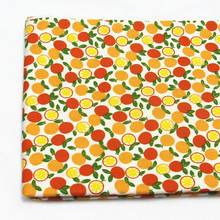 100% Cotton Fabric 50x160cm Orange Printed Fabric for Sewing Curtain Baby's Skirt Doll Pet Cloth Bedding Table Cloth Quilting