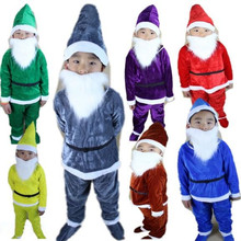Seven Dwarfs for children christmas suit for kids christmas costumes for boys funny cosplay kids festival cosplay