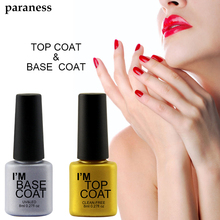 Paraness Gel Nail Polish Manicure 8ml Easy Soak Off Base Gel Top Coat UV LED Nail Art Transparent Gel Polish Enamel Permanent