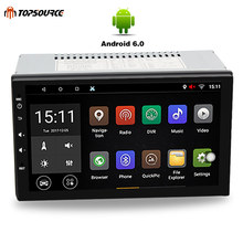 TOPSOURCE Universal 7 inch Car DVD player 2 din Android 6.0 1024*600 screen Quad Core car stereo radio GPS+WIFI+Bluetooth+Radio(China)