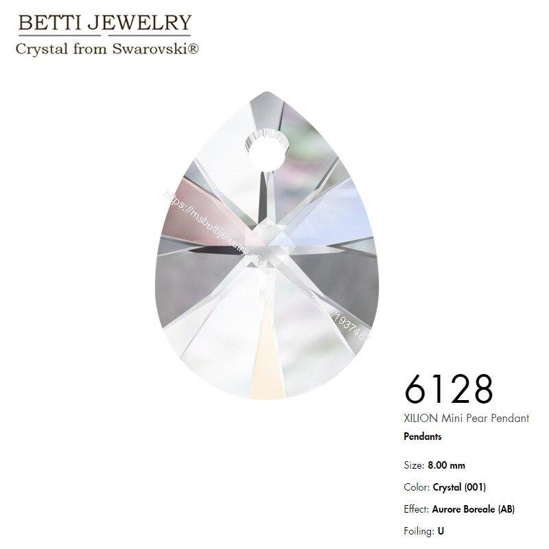 6128 Xilion mini Pear Pendant AB-1