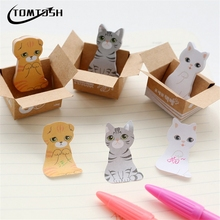 3D Cartoon Kawaii Scrapbooking Cat Dog Box Stickers Cute Korean Stationery Sticky Notes Office School Supplies Post It Memo Pad(China)