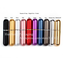6 x  6ml Mini Perfume Bottle 6cc Aluminum Spray Atomizer Sample Refillable Aluminum Fragrance Bottle