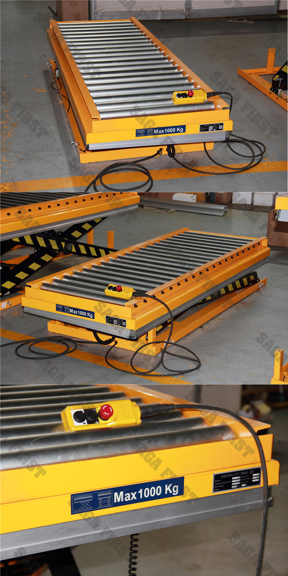 roller lift table