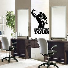 Man Barber Shop Sticker Name Bread Clipper Decal Haircut Shavers Posters Vinyl Wall Art Decals Decor Windows Decoration Mural