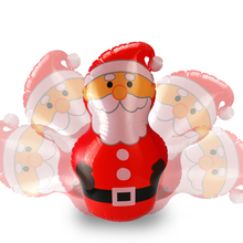 Funny 45cm Inflatable Christmas Santa Claus Decoration Gifts PVC Tumbler Toys for New Year Party Supplies Celebration Decorated