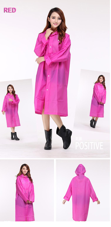 Women Transparent Portable Long Raincoats 12