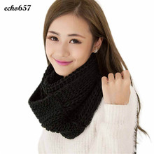 Fashion Women Scarves Echo657 Hot Sale Newly Fashion Women Winter Warm Infinity 2 Circle Cable Knit Cowl Neck Long Scarf Dec 7