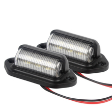 1 Pair Motorcycle LED License Plate Tag Lights Rear Lamp Automobile Accessories Convenience Courtesy Door Step Lamp(China)