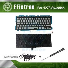 "Brand New Sweden Swedish SE keyboard+Backlight+100pcs keyboard screws+screw driver For MacBook Pro 13.3"" A1278 2009-2012 Years"