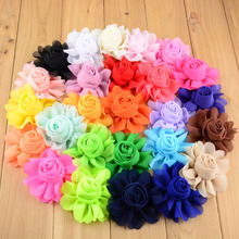 DHL Free Shipping 2016 Hot New Hair Flowers 26C 8CM girl Chiffon Artificial Flowers WITHOUT Clip 500pcs/lot Wholesale TH25(China)