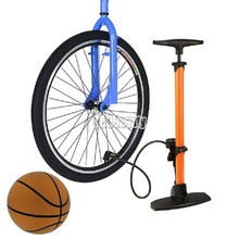 Portable Bike Bicycle Tire Floor Pump With Barometer Bike Tire Ball Basketball Inflator Mini Hand Air Pump Bomba De Ar Bicicleta