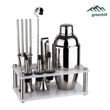 Premium Barware / Bar Tool Set - 12 Pieces Bartender Kit Includes Shaker (550ml), Jigger, Spoon, Pourer, Straw & Ice tong