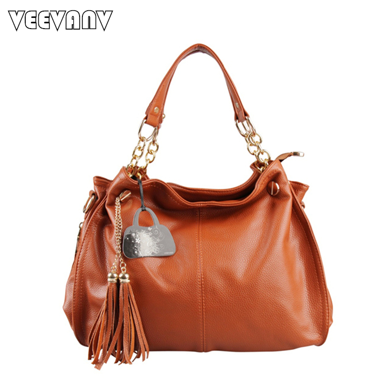 2017 New Fashion Women Meseenger Bags Ladies Leather Shoulder Bag Tassel Crossbody Bags Women Handbag  Female Tote Handbag Large<br>