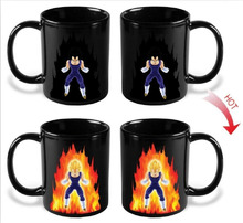 Dragon Ball Coffee Mug Color Change Cup Funny Printed Tea Cups and Mugs Vegeta Drinkware