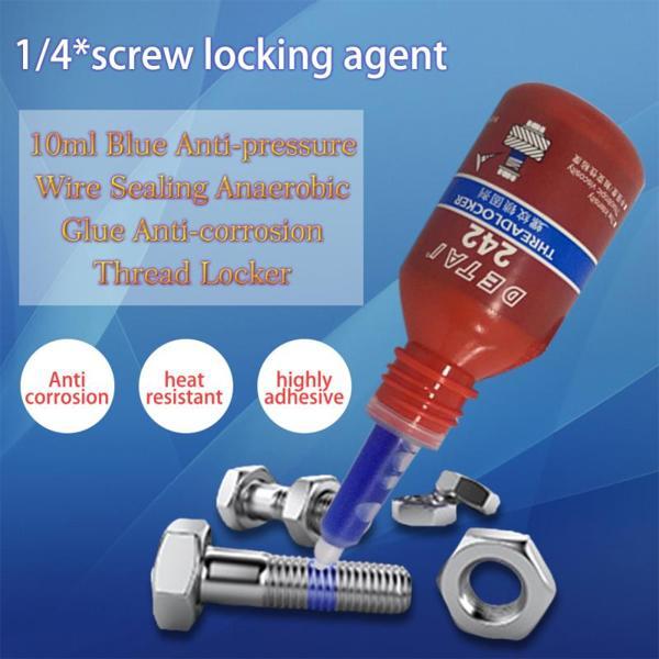 PKR 140.14 | 1pc/4pcs 10ml 242 Liquid Glue Blue Anaerobic Adhesive Removable Sealant Thread Super Glue For Metal Surfaces And Screw