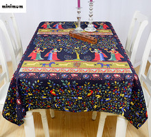 Southeast Asian Thai tablecloth retro creative bar square table cloth Chinese - style round table cloth custom