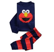 Children's pajamas suit long sleeve clothes red Sesame Street girl boy baby 100%cotton sleepwear sets