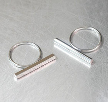 Custom Personalized Hip Hop Stainless Steel Flat Bar Ring