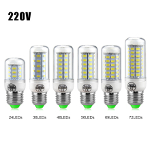Replace CFL 7W 12W 15W 20W 25W 30W E27 E14 220V LED light Bulb High Luminous 5730 Spotlight LEDs Corn lamp Chandelier lighting