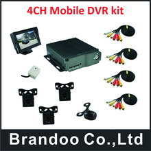 4CH Recording Mobile Bus Vehicle Truck Car DVR Recorder System(China)