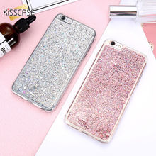 KISSCASE Luxury Glitter Paillette Case For iphone 6 6s Plus Girl Bling Shiny Crystal Clear Silicon TPU For iphone6 6s Back Coque(China)