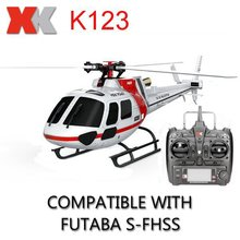 Wholesale rc helicoptero remote control toy XK K123 6CH Brushless AS350 Scale 3D6G System RC Helicopter RTF