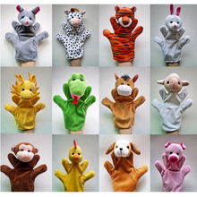 12Pcs / Chinese zodiac cartoon style plush authentic hand puppet large size hand even puzzle funny baby toys
