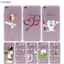 Lavaza Cute Nurse Doctor Dentist Stethoscope Tooth Injections Hard Case for Lenovo K3 K4 K5 K6 Note S850 S60 S90 A5000 Vibe P1(China)