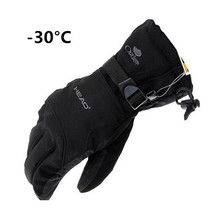 2017 New Brand Winter Men's Gloves Winter -30 Warm Gloves All-Weather Windproof Waterproof Gloves Free Shipping(China)