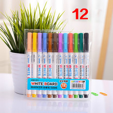 12 colors white board maker pen white board whiteboard marker liquid chalk erasable glass ceramics maker pen easy erasing