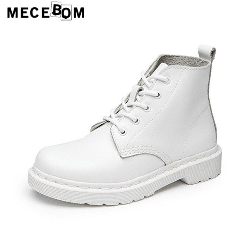Women fashion genuine leather ankle boots winter white shoe for female platform botas sapatos size 35-44 9926w<br>