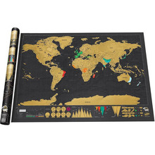 Free Shipping World Travel Scratch Off Map Black Scratching Map Wall Poster Creative Gift for Travelers(China)